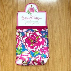 NWT; Lilly Pulitzer beer coozie flutter blue